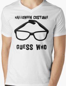 "Halloween ""Halloween Costume - Guess Who?"" T-Shirt Mens V-Neck T-Shirt"