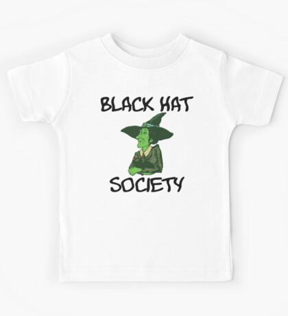 "Halloween ""Black Hat Society"" T-Shirt Kids Tee"