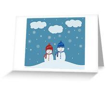 Snowman - Let It Snow Illustration Greeting Card