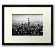 Sunset of Manhattan BW Framed Print