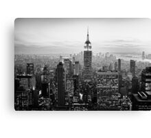 Sunset of Manhattan BW Canvas Print