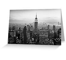 Sunset of Manhattan BW Greeting Card