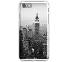 Sunset of Manhattan BW iPhone Case/Skin