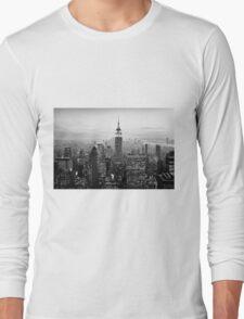 Sunset of Manhattan BW Long Sleeve T-Shirt