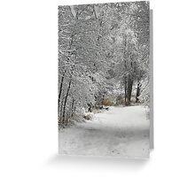 Winter's Kiss Greeting Card