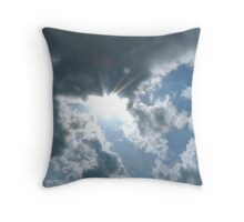 Faces in the Clouds Throw Pillow
