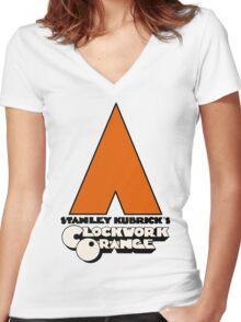 A Clockwork Orange I Women's Fitted V-Neck T-Shirt