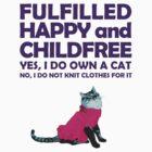 Childfree with cat (dark) by PurpleSparklies
