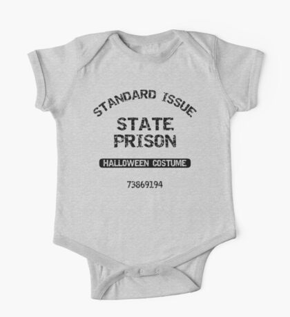 "Halloween ""State Prison Halloween Costume"" T-Shirt One Piece - Short Sleeve"