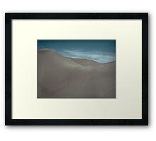 Silently Among the Sand Dunes Framed Print
