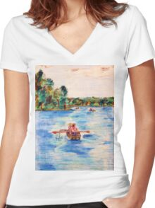 Conversation Women's Fitted V-Neck T-Shirt