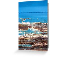 Whale watching at the rock pools Greeting Card