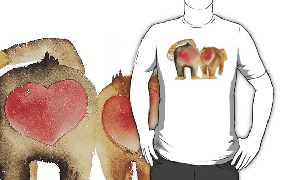 Valentine's Day Abstract Love Monkeys T-Shirt by HolidayT-Shirts