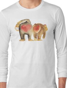 Valentine's Day Abstract Love Monkeys T-Shirt Long Sleeve T-Shirt