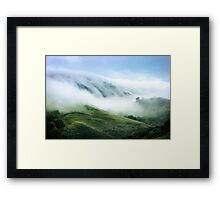 Morning Fog on Mission Peak Framed Print