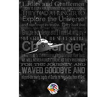Space Shuttle Challenger Poster Photographic Print