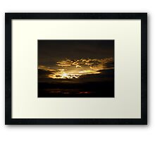Sunset Cloud Framed Print