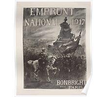 Emprunt National 1917 Bonbright et Co Paris Poster