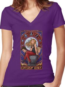 Chosen Girl Women's Fitted V-Neck T-Shirt