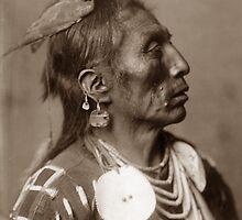 Native American Portrait: Medicine Crow - Apsaroke Medicine Man by Chunga