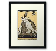 Magic Masquerade Train - Charlotte & her Cello Framed Print