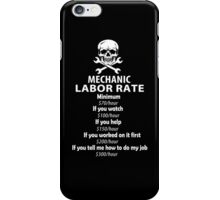 Mechanic Labour Rate iPhone Case/Skin