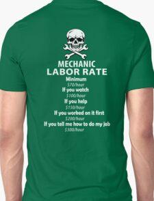 Mechanic Labour Rate Unisex T-Shirt