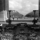BW France Paris Triumphal arch Unknown soldier 1970s by blackwhitephoto