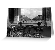 BW France Paris Triumphal arch Unknown soldier 1970s Greeting Card