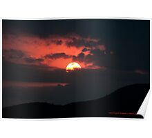 Early evening sunset Poster