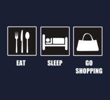 Eat Sleep Go Shopping Baby Tee