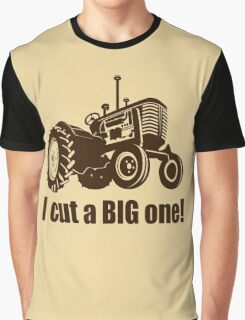 I Cut A Big One - Tractor Graphic T-Shirt