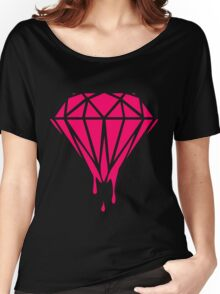 Neon Dripping Diamond Women's Relaxed Fit T-Shirt