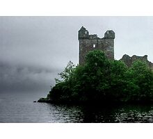 Out of the gloom - Urquhart Castle.......! Photographic Print