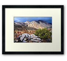 Split Mountain Stormlight Framed Print