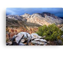 Split Mountain Stormlight Canvas Print