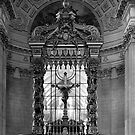 BW France Paris royal chapel altar St James Palace 1970s by blackwhitephoto