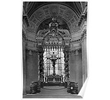 BW France Paris royal chapel altar St James Palace 1970s Poster