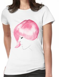Pink Hair Womens Fitted T-Shirt