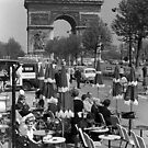 BW France Paris Triumphal arch 1970s by blackwhitephoto