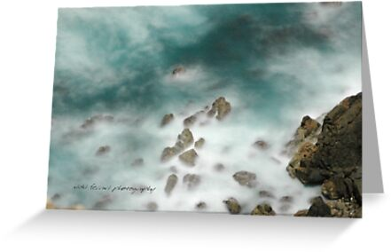 Byron Bay Midnight Ocean Rocks © Vicki Ferrari by Vicki Ferrari