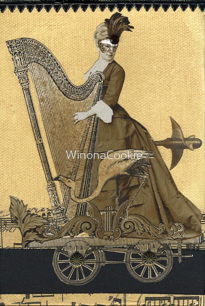Magic Masquerade Train - Hannah & her Harp by WinonaCookie