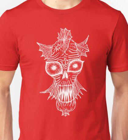 Monster Mondays #1 - Fishy Monster - White Lines Unisex T-Shirt