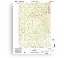 USGS Topo Map Washington State WA Larch Mountain 241948 2000 24000 Canvas Print