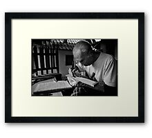 the writer Framed Print