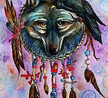 Harmony Raven and Wolf Spirit by ChubbyMermaid
