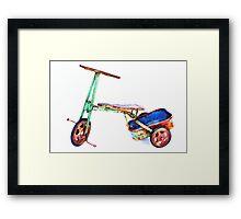 cool retro green trike Framed Print