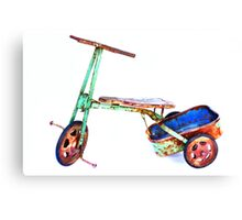 cool retro green trike Canvas Print