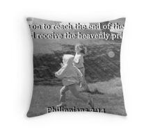 """Philippians 3:14"" by Carter L. Shepard Throw Pillow"