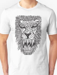 Monster Mondays #2 - Lionel Lion - Anger Monster! - BLACK LINES T-Shirt